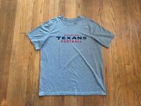 Houston Texans Nike Dri-Fit On Field Shirt Mens XL EUC Gray NFL
