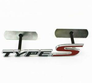 Metal Black Red TYPE-S Emblem Badge Bolt fixed Car SUV Grille For Honda Acura 3D