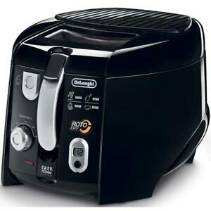 Roto Fry Cool Touch Low Oil Deep Fryer Cooker Electric Automatic Basket Black