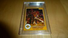 1983-84 Star Basketball James Worthy SP #25 ROOKIE CARD RC BGS 9 MINT