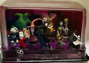 Disney The Nightmare Before Christmas Deluxe Figurine Figure Play Toy 9 pc Set