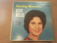 KITTY WELLS Burning memories Decca DL 74612 Stereo Rare Country LP from 1965