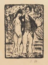Otto Mueller  Lithographie  Zirkuspaar  1920/21, handmonogrammiert