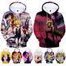 The Seven Deadly Sins Nanatsu no Taizai Anime 3D Hoodie Sweatshirt Pullover Coat