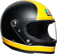 CASCO INTEGRALE VINTAGE SUPER AGV X3000 MATT BLACK - YELLOW TAGLIA S