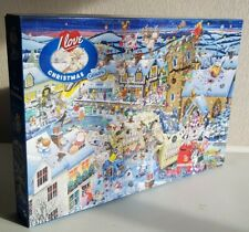"""JIGSAW Gibsons 1000 Piece Puzzle """"I Love Christmas"""" by Mike Jupp COMPLETE Used."""