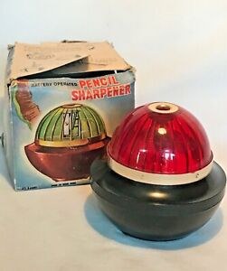 Vintage UFO or Art Deco Red Pencil Sharpener   Battery Power Does Not Work
