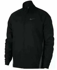 Nike Men's DRI-FIT Gym Training Mock Full Zip Jacket Black Gray 928010-010 Large