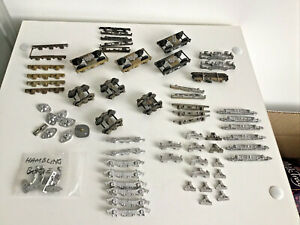 white metal coach Bogie kits & other parts new & used old stock large joblot.
