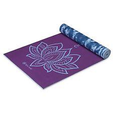 Gaiam Premium Print Reversible Yoga Mat, Puple Lotus, 5mm
