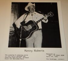 KENNY ROBERTS / COUNTRY YODELING GREAT /  8 X 10  B&W  AUTOGRAPHED  PHOTO