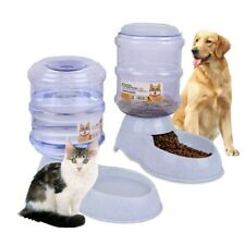 Pet Dog Cat Automatic Feeder Food Water Bottle Dispenser Travel Dish Bowl Us