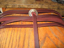 6 Extra Long Genuine Heavy Latigo Leather Saddle Strings 44 In Burgandy 3/8 in