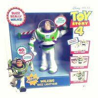 "Disney Toy Story 4 Walking Buzz Lightyear 7"" Laser Wings 40+ Sounds Phrases 3+"