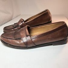 Cole Haan Green Label Leather Kiltie Loafers Brown 11.5D