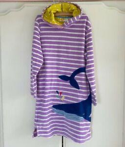 Mini Boden Blue Whale Terry Cloth Beach Dress Cover Up - Size 9-10 EUC