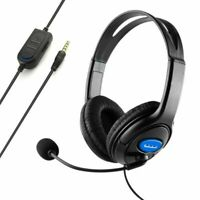 Pro Gaming Headset Headphones Microphone with Mic Volume Control for PS4 and PC