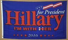 HILLARY CLINTON FOR PRESIDENT 3' x 5' FLAG KAINE PRESIDENTIAL RACE 2016 SIGN