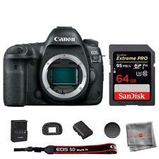 Cámara SLR Canon Eos 5D Mark IV Digital cuerpo Sandisk 64GB Tarjeta de memoria SDHC