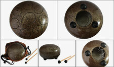 "WuYou 8 ""19cm Steel Tongue Drum handpan,F note hand tuned perfect Sound Healing"