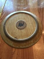 Studio Pottery Signed 13 Inch Round Platter