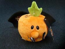 "Harley Davidson Halloween Plush Pumpkin With Bat Wings Has Sound 5.5"" (pt1514)"