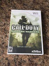Call Of Duty Modern Warfare Nintendo Wii Cib Game Works W1