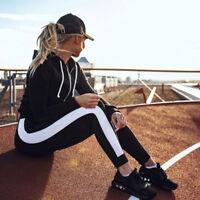 TOP Women Yoga Fitness Waist Leggings Running Gym Stretch Sports Pants Trousers
