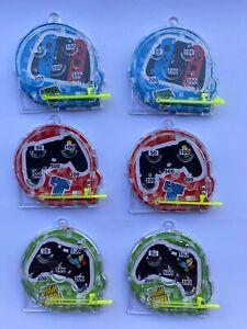 Mini Gamer Pinball Games - Idea Party Bag Fillers - Pack of 6