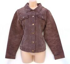 Brown 100% Real Leather EXXESS Western Bomber Ladies Women's Jacket Coat size XL