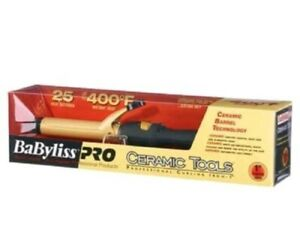 """BaByliss PRO Ceramic Tools 1"""" Spring Curling Iron Black CT100S 110 - 220 Volts"""