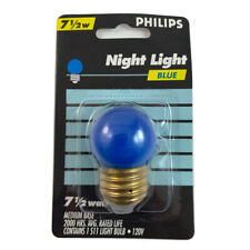 Philips 7.5w S11 Blue Incandescent Night Light Bulb  - E26 Base