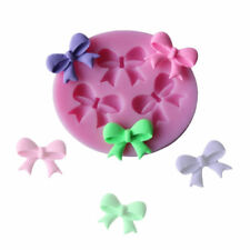 3 BOW RIBBON KNOT Silicone Fondant Cake Topper Mold Mould Chocolate Candy Baking