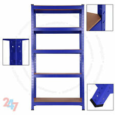 5 Tier Heavy Duty Blue Shelving Metal Racking Shelve Rack Bolt-Less Steel Shelf