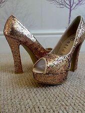Peep Toes Standard (B) Block Unbranded Heels for Women