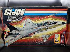 1983 vintage GI Joe SKYSTRIKER XP-14F jet vehicle w/ box + ACE figure toy Hasbro
