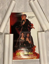 8X MEDIUM SIZE License to Kill 27 x 17 3/4-inch James Bond 007 Poster