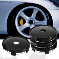 4x Black 60mm ABS Universal Car Wheel Tire Rim Center Hub Caps Cap Decor Cover