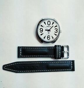Russian mechanical watch Raketa Big Zero, white dial, 39mm