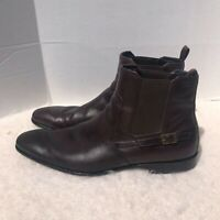 Hugo Boss Brown ankle Dress Boots 13 Leather