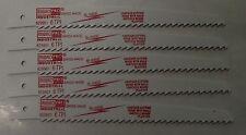 """Mibro 829961 6"""" x 6Tpi Bi Metal Wood Cutting Recip Blade 5pcs Swiss"""