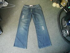 "Cherokee Loose Fit Jeans Size 12 Leg 32"" Faded Dark Blue Ladies Jeans"