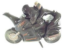 RICHARD PARRINGTON LGE COLLECTABLE NOVELTY TEAPOT MOTORCYCLE PILLION GRT CONDITN