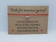 Wish Bracelet for someone special, best friend bracelet