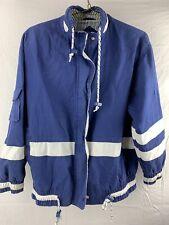 Vintage Izzi Spirit Blue White Nautical Jacket Men's Size M