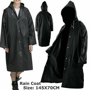 Raincoat Women Men Waterproof Outdoor EVA Cloth Long Rain Coat Poncho With Hat