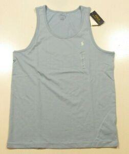 Polo Ralph Lauren Men's Blue Cotton Tank Top