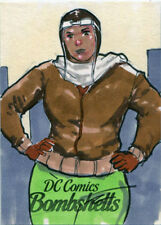 DC Comics Bombshells Sketch Card by Jomar Bulda of Amanda Waller