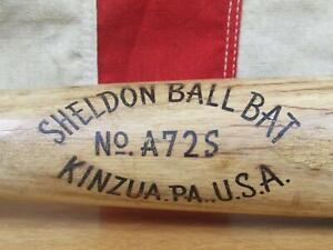 "Vintage 1940s Sheldon Ball Bat Wood Baseball Bat American Ace Babe Ruth Type 34"""