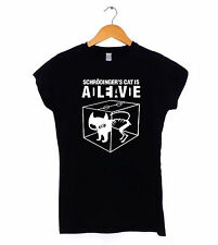 Schrodingers Cat T-Shirt Dead or alive Ladies womens